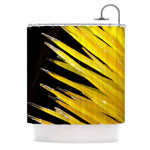 "Rosie Brown ""Glass Art"" Yellow Black Photography Shower Curtain"