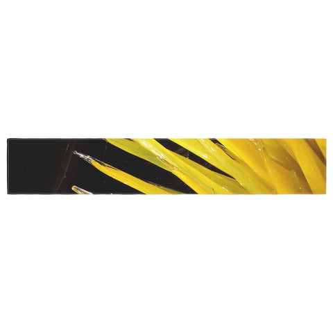 "Rosie Brown ""Glass Art"" Yellow Black Photography Table Runner"