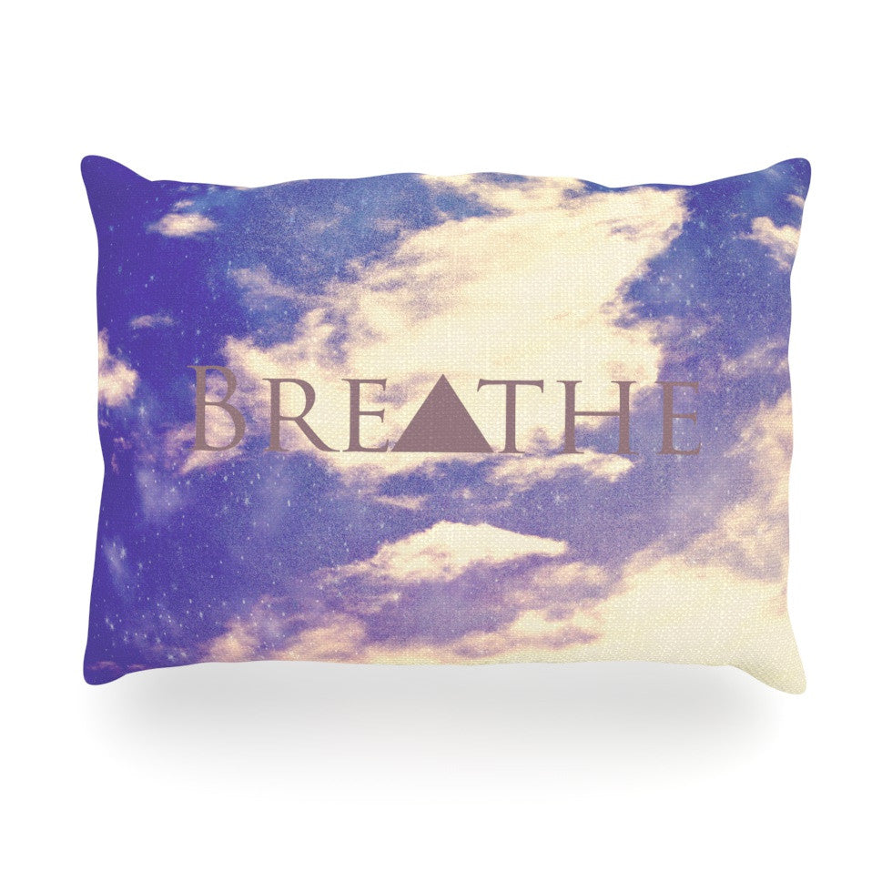 "Rachel Burbee ""Breathe"" Oblong Pillow - KESS InHouse"