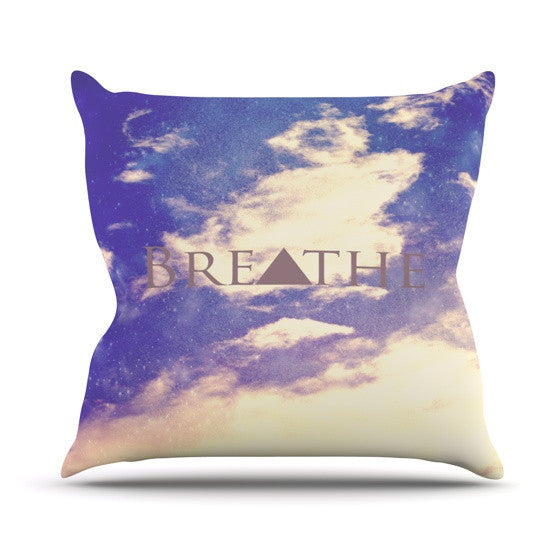 "Rachel Burbee ""Breathe"" Outdoor Throw Pillow - KESS InHouse  - 1"