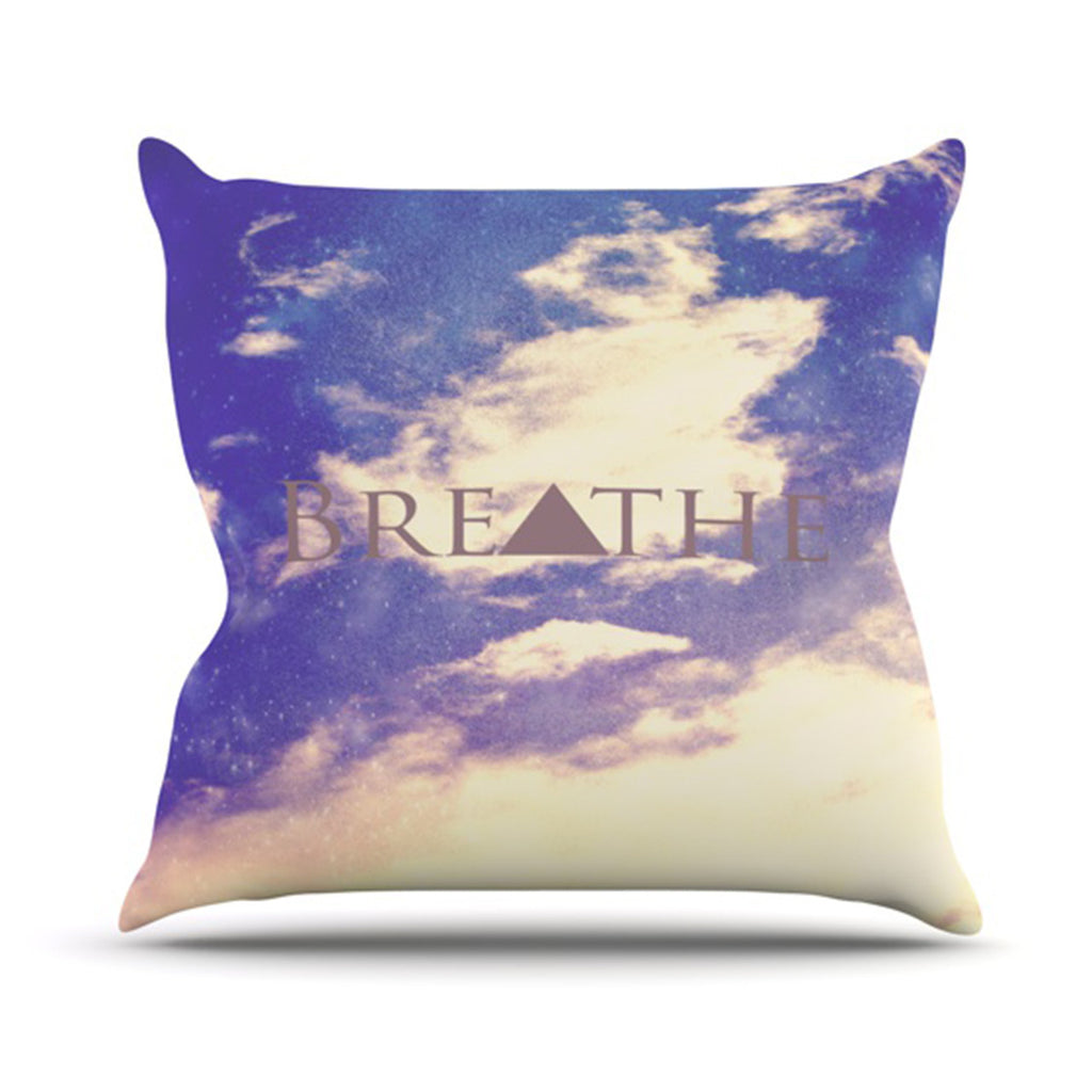 "Rachel Burbee ""Breathe"" Throw Pillow - KESS InHouse  - 1"