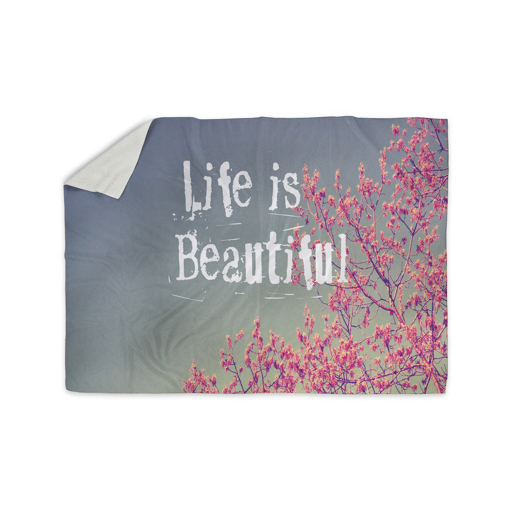 "Rachel Burbee ""Life is Beautiful"" Sherpa Blanket - KESS InHouse  - 1"