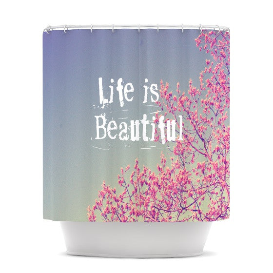 "Rachel Burbee ""Life is Beautiful"" Shower Curtain - KESS InHouse"