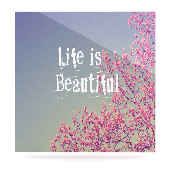 "Rachel Burbee ""Life is Beautiful"" Luxe Square Panel - KESS InHouse  - 1"