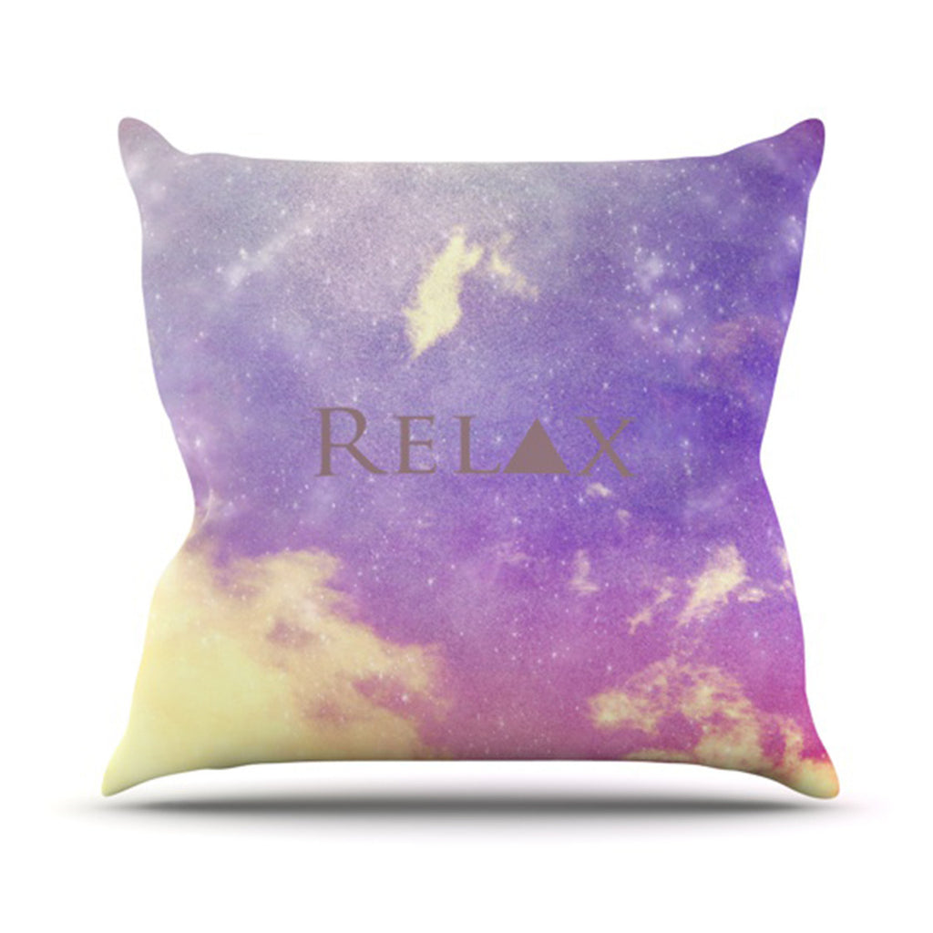 "Rachel Burbee ""Relax"" Throw Pillow - KESS InHouse  - 1"
