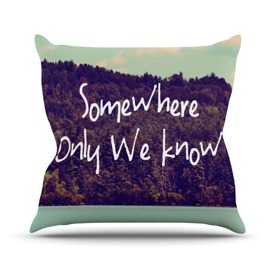 "Rachel Burbee ""Somewhere"" Outdoor Throw Pillow - KESS InHouse  - 1"