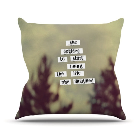 "Rachel Burbee ""Her Life"" Outdoor Throw Pillow - KESS InHouse  - 1"