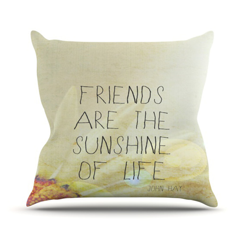 "Rachel Burbee ""Friends & Sunshine"" Throw Pillow - KESS InHouse  - 1"