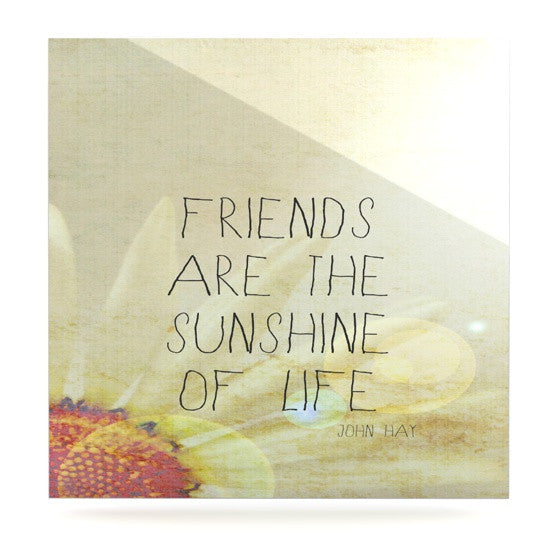 "Rachel Burbee ""Friends & Sunshine"" Luxe Square Panel - KESS InHouse  - 1"
