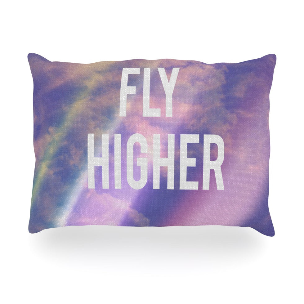 "Rachel Burbee ""Fly Higher"" Oblong Pillow - KESS InHouse"