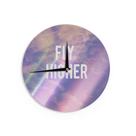 "Rachel Burbee ""Fly Higher"" Wall Clock - KESS InHouse"