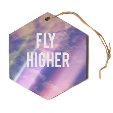 "Rachel Burbee ""Fly Higher""  Hexagon Holiday Ornament"