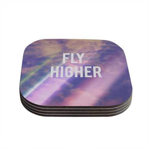 "Rachel Burbee ""Fly Higher"" Coasters (Set of 4)"