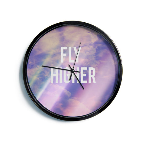 "Rachel Burbee ""Fly Higher""  Modern Wall Clock"