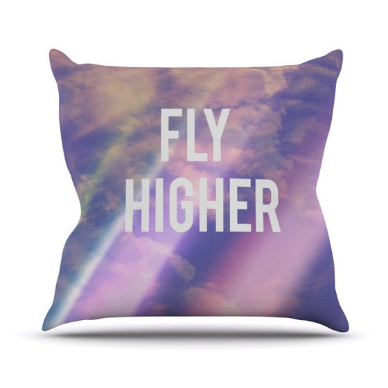 "Rachel Burbee ""Fly Higher"" Outdoor Throw Pillow - KESS InHouse  - 1"