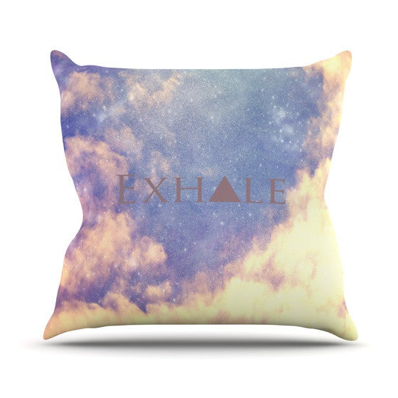 "Rachel Burbee ""Exhale"" Outdoor Throw Pillow - KESS InHouse  - 1"