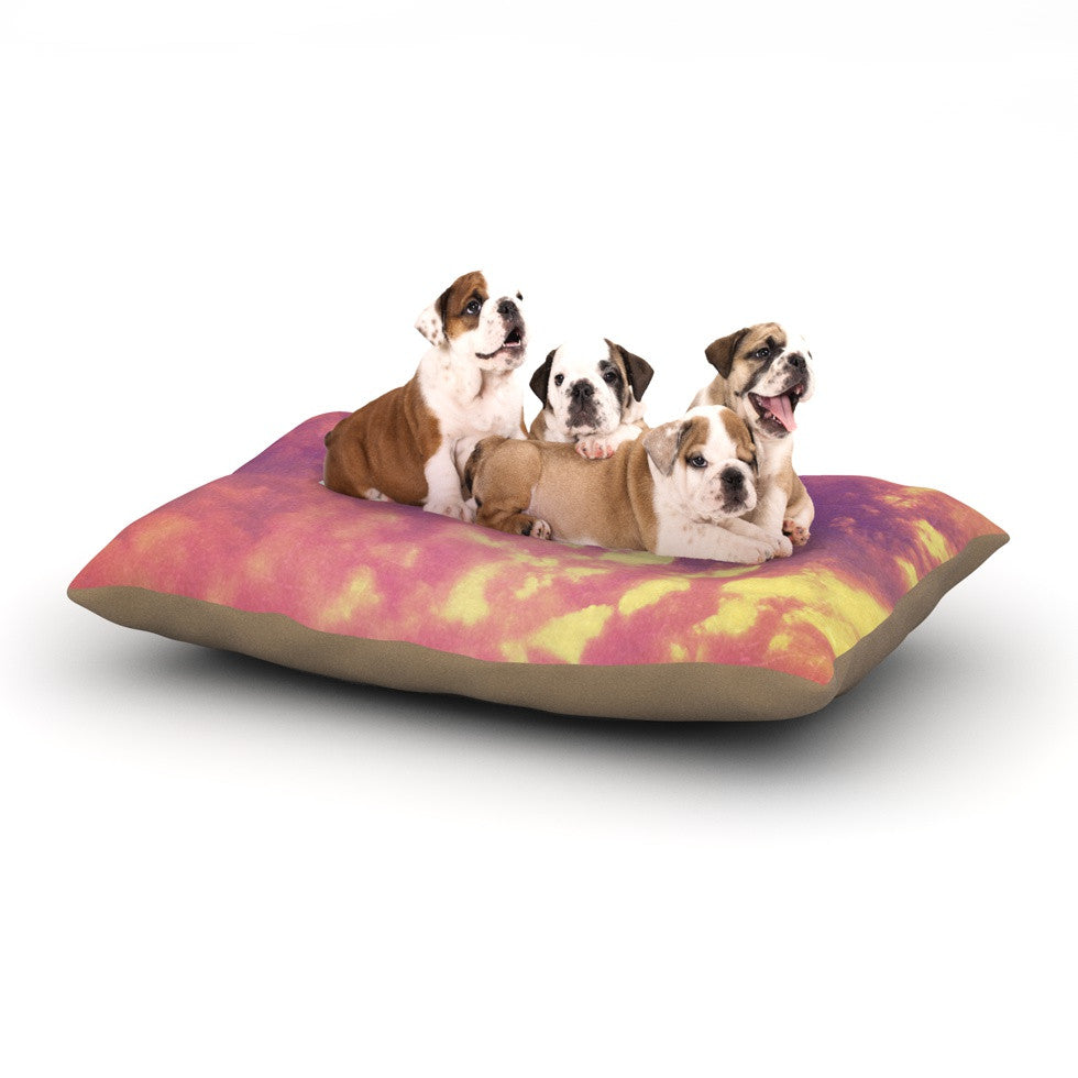 "Rachel Burbee ""Dream"" Pink Orange Dog Bed - KESS InHouse  - 1"