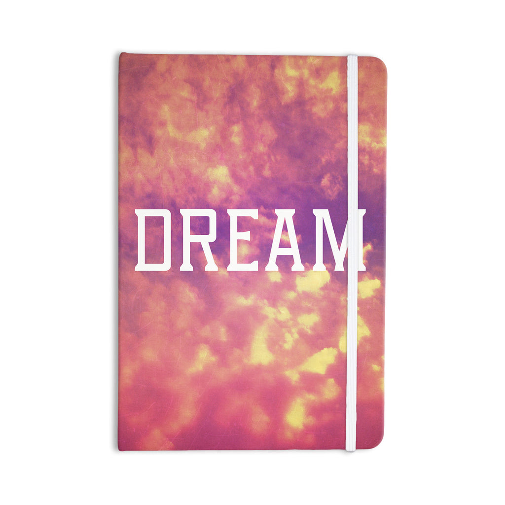 "Rachel Burbee ""Dream"" Pink Orange Everything Notebook - KESS InHouse  - 1"