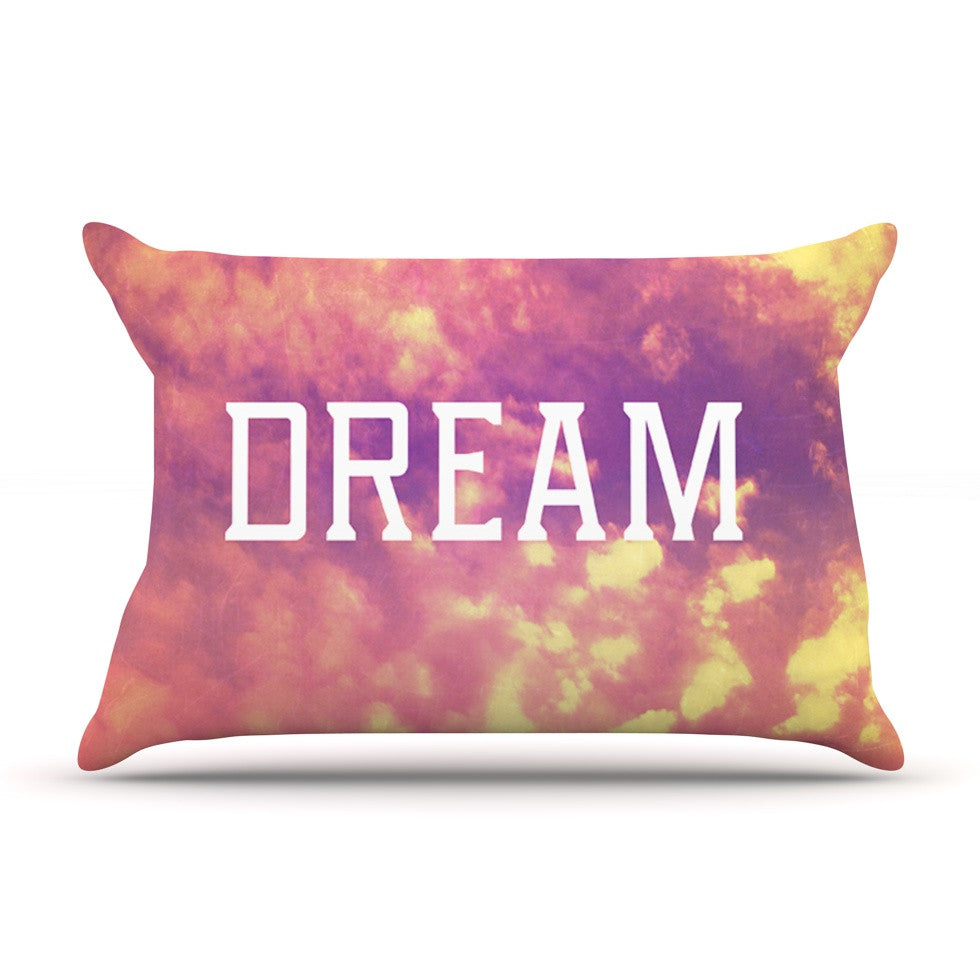 "Rachel Burbee ""Dream"" Pink Orange Pillow Sham - KESS InHouse"