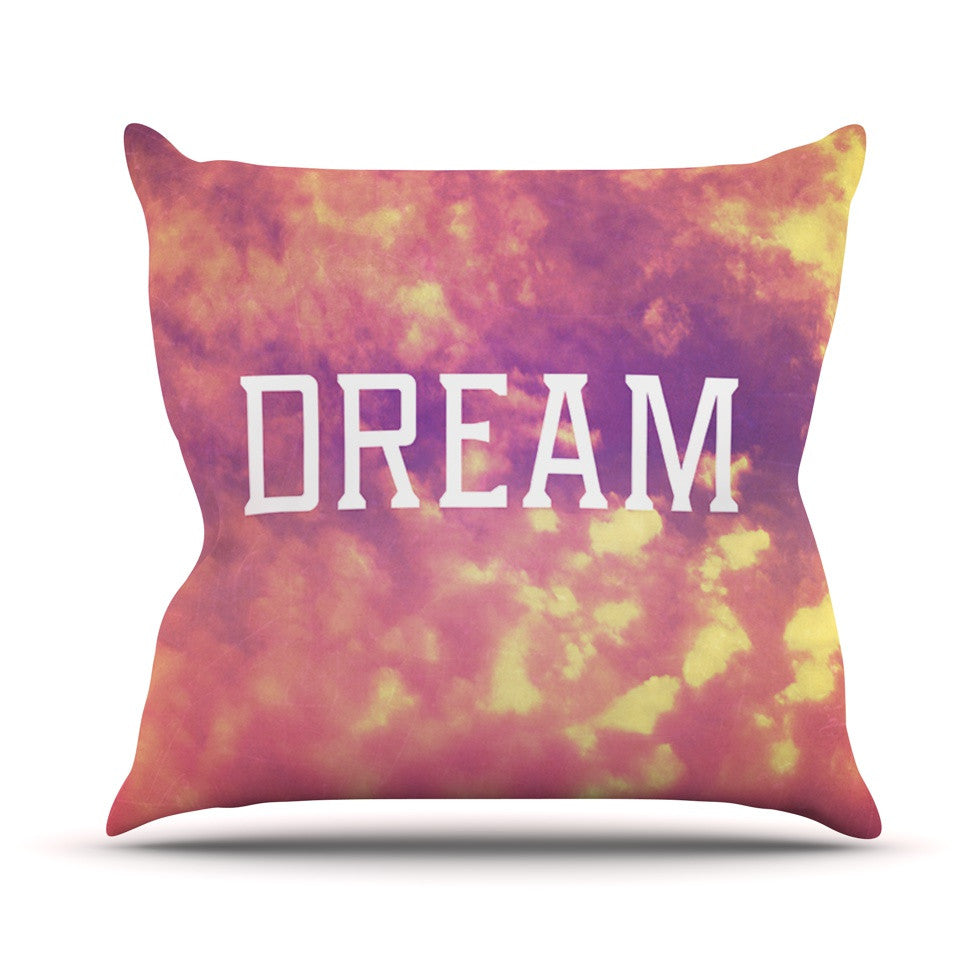 "Rachel Burbee ""Dream"" Pink Orange Throw Pillow - KESS InHouse  - 1"