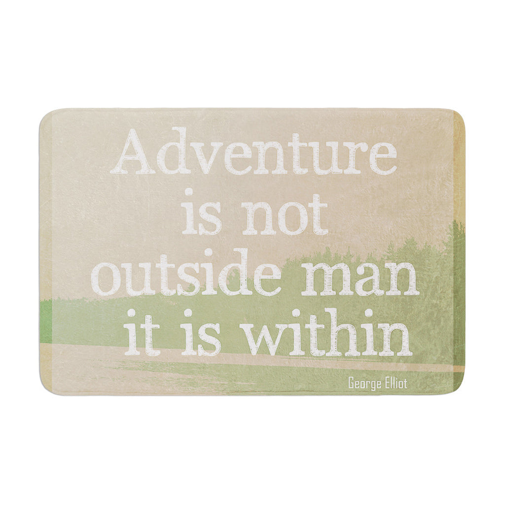 "Rachel Burbee ""Adventure"" Nature Typography Memory Foam Bath Mat - KESS InHouse"