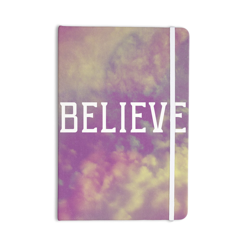 "Rachel Burbee ""Believe"" Purple Clouds Everything Notebook - KESS InHouse  - 1"