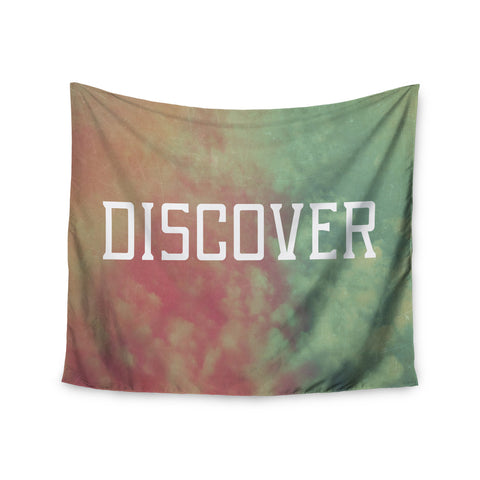 "Rachel Burbee ""Discover"" Green Orange Wall Tapestry - KESS InHouse  - 1"