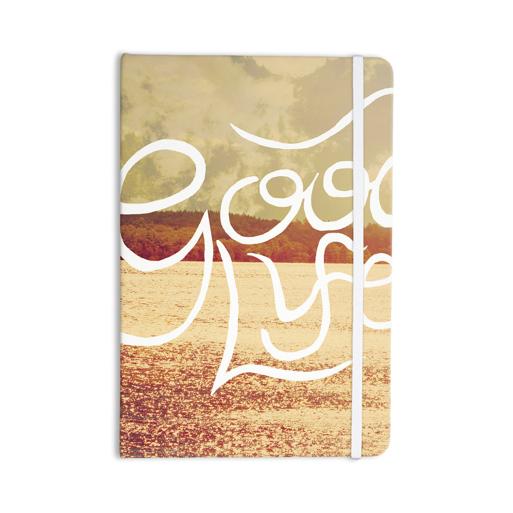 "Rachel Burbee ""Good Life"" Tan Brown Everything Notebook - KESS InHouse  - 1"