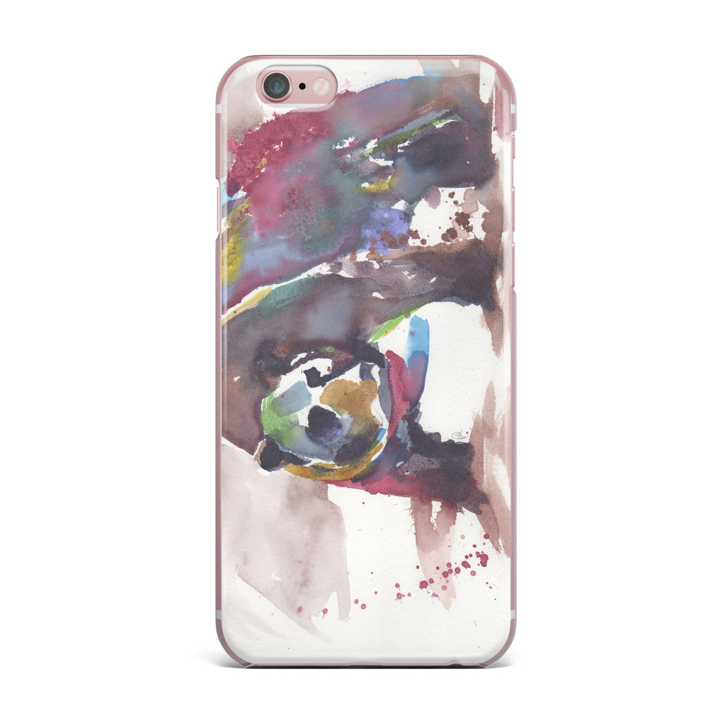 "Rebecca Bender ""Grizzly Bear Watercolor"" Abstract Animal iPhone Case - KESS InHouse"