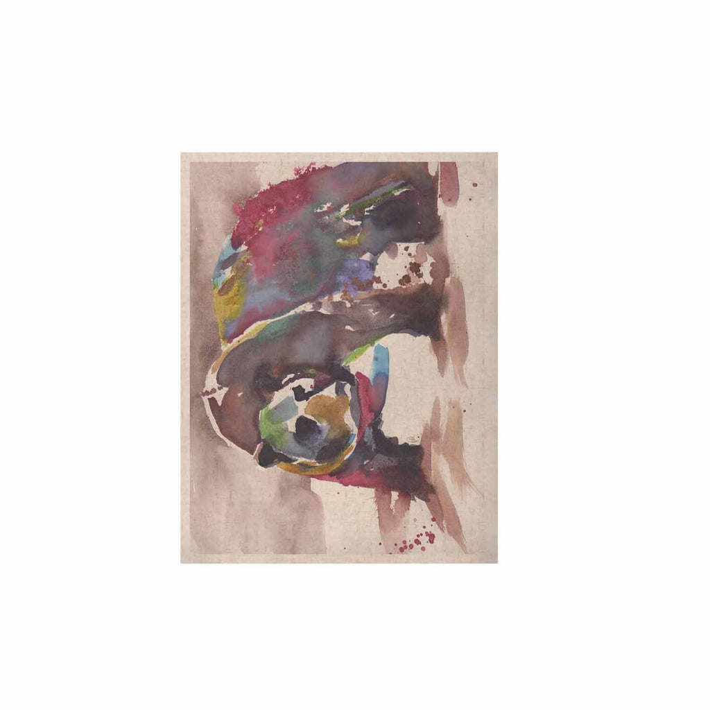 "Rebecca Bender ""Grizzly Bear Watercolor"" Abstract Animal KESS Naturals Canvas (Frame not Included) - KESS InHouse  - 1"