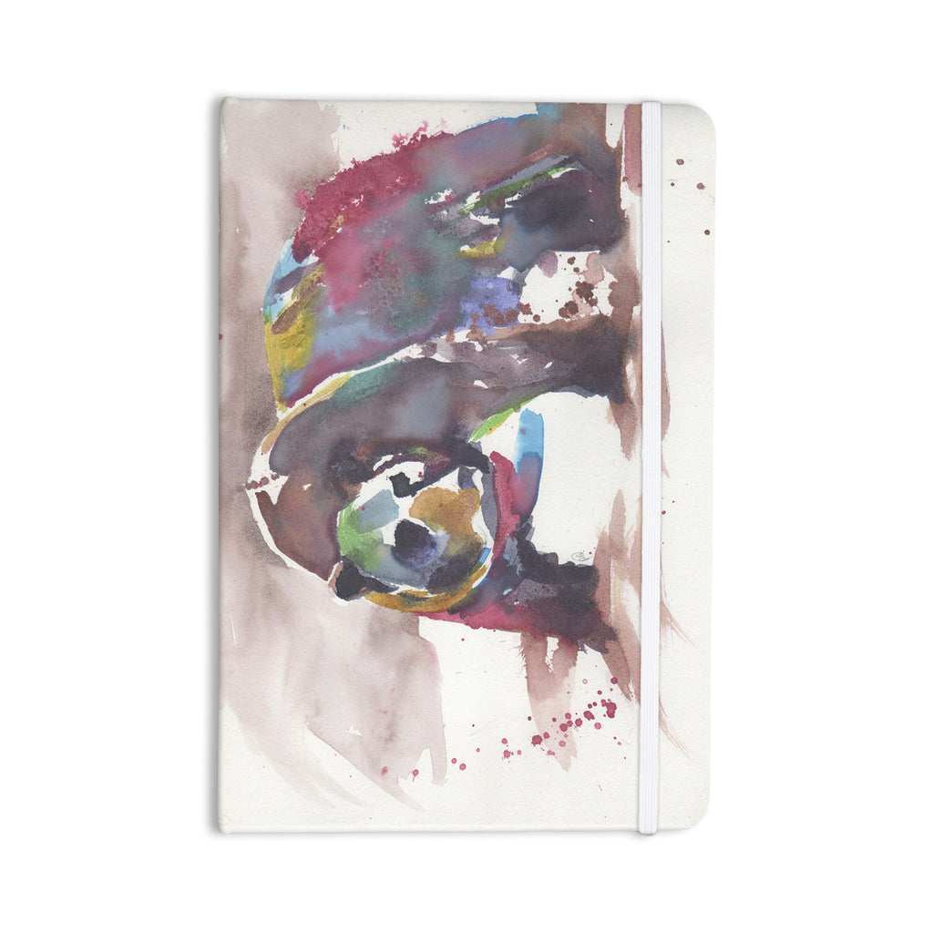 "Rebecca Bender ""Grizzly Bear Watercolor"" Abstract Animal Everything Notebook - KESS InHouse  - 1"