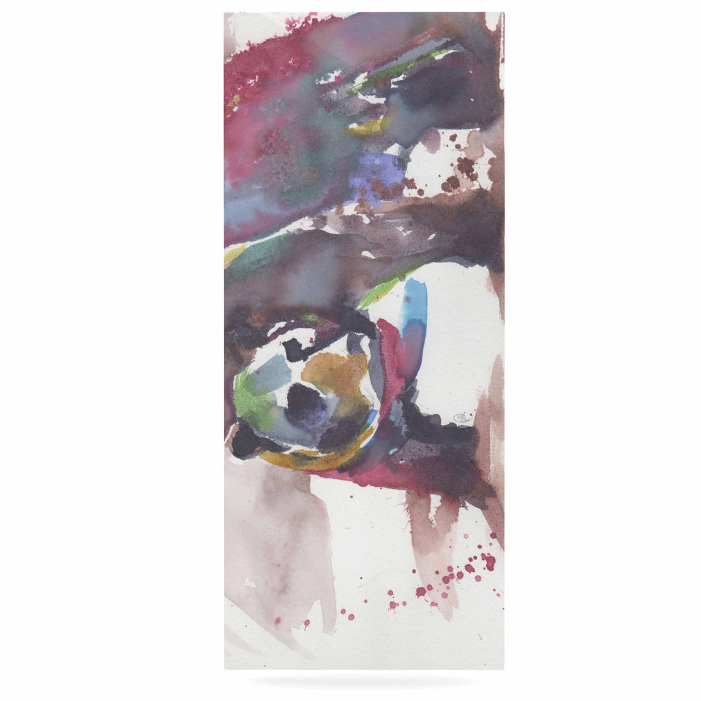 "Rebecca Bender ""Grizzly Bear Watercolor"" Abstract Animal Luxe Rectangle Panel - KESS InHouse  - 1"