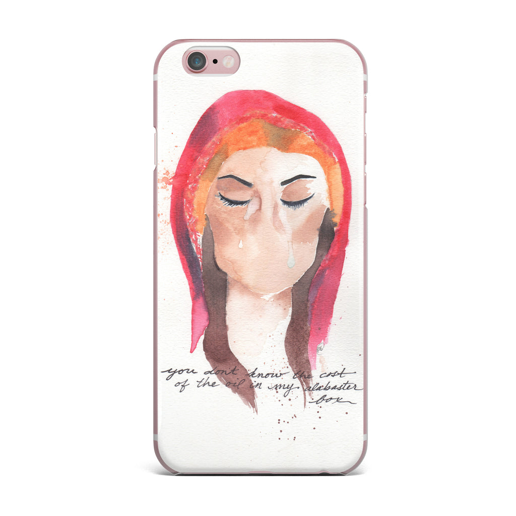 "Rebecca Bender ""Mary Magdelene"" Beige Red iPhone Case - KESS InHouse"