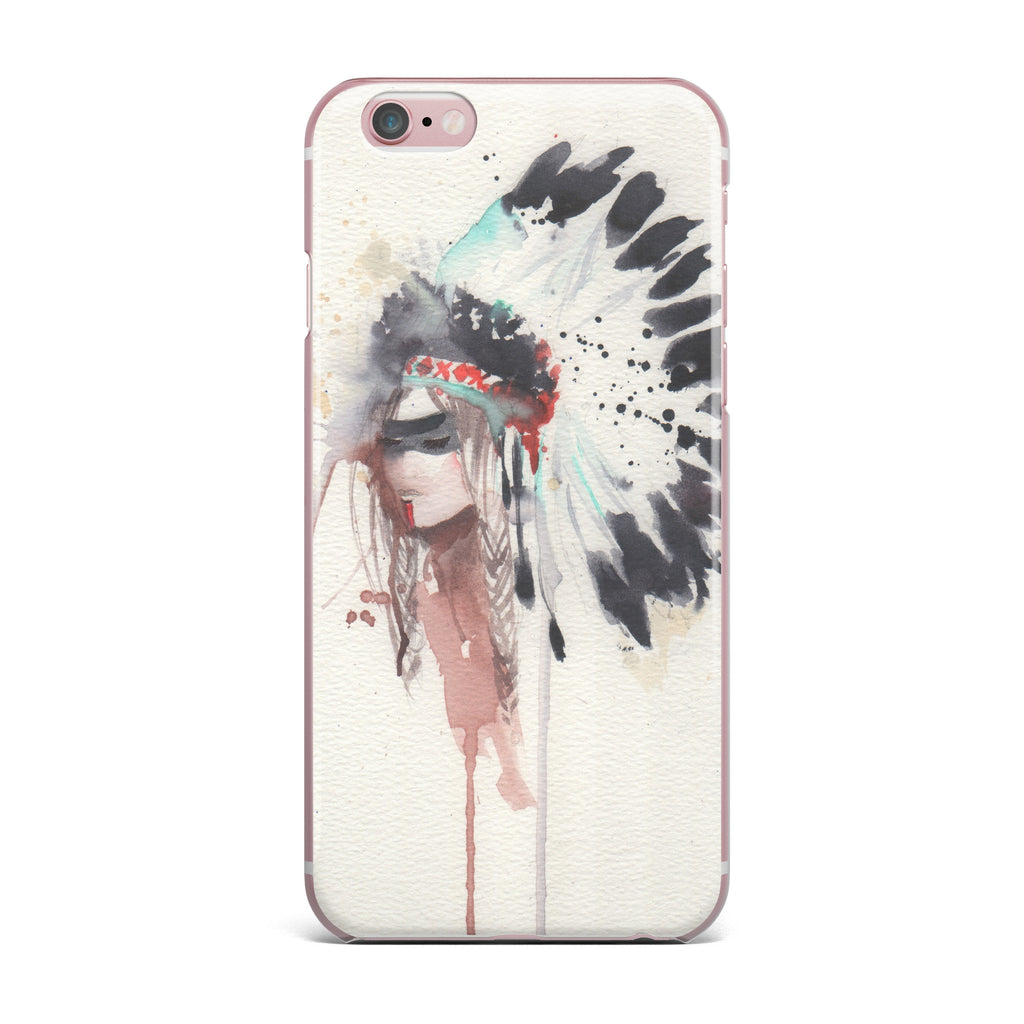 "Rebecca Bender ""Warrior Bride"" Beige Multicolor iPhone Case - KESS InHouse"