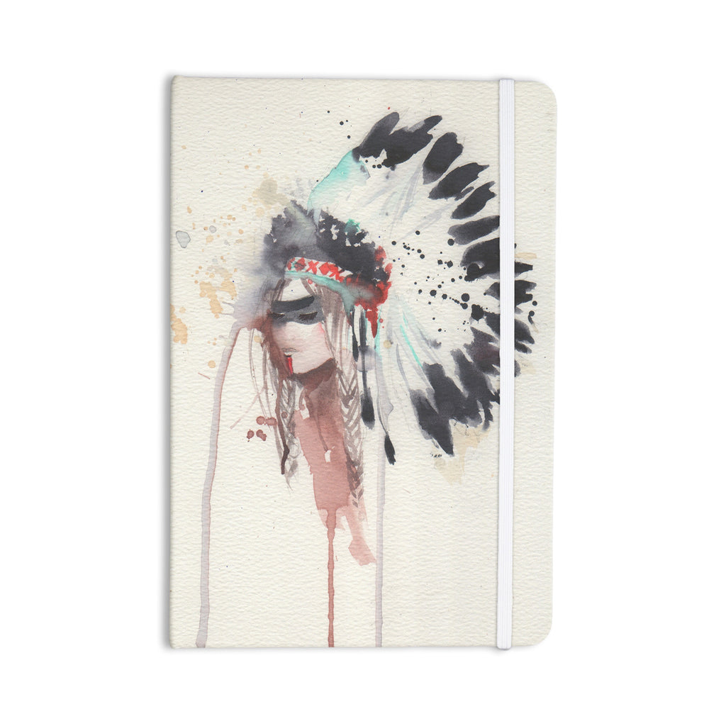 "Rebecca Bender ""Warrior Bride"" Beige Multicolor Everything Notebook - KESS InHouse  - 1"