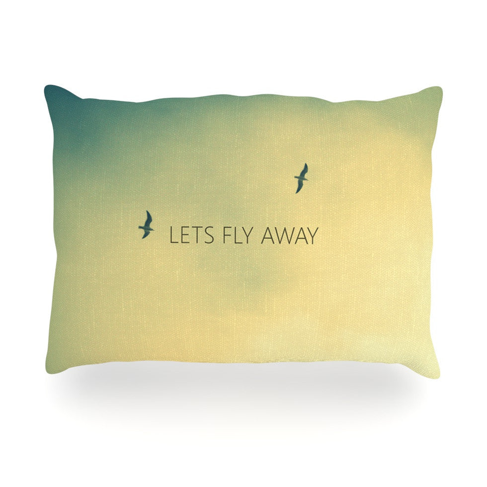 "Richard Casillas ""Let's Fly Away"" Oblong Pillow - KESS InHouse"