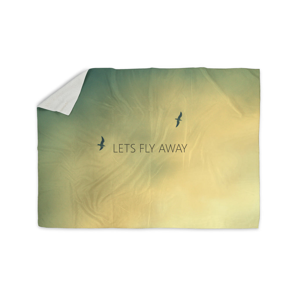 "Richard Casillas ""Let's Fly Away"" Sherpa Blanket - KESS InHouse  - 1"