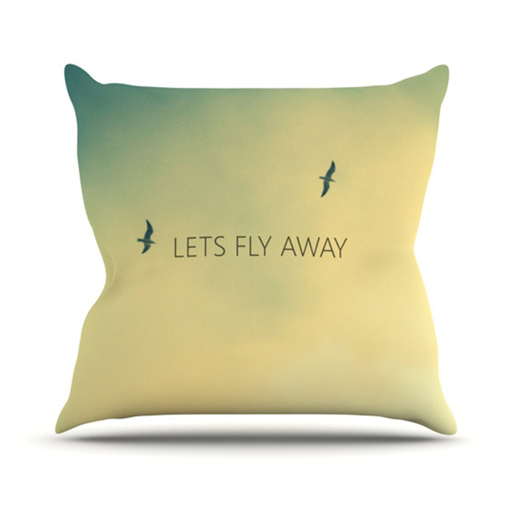 "Richard Casillas ""Let's Fly Away"" Throw Pillow - KESS InHouse  - 1"