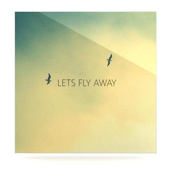 "Richard Casillas ""Let's Fly Away"" Luxe Square Panel - KESS InHouse  - 1"