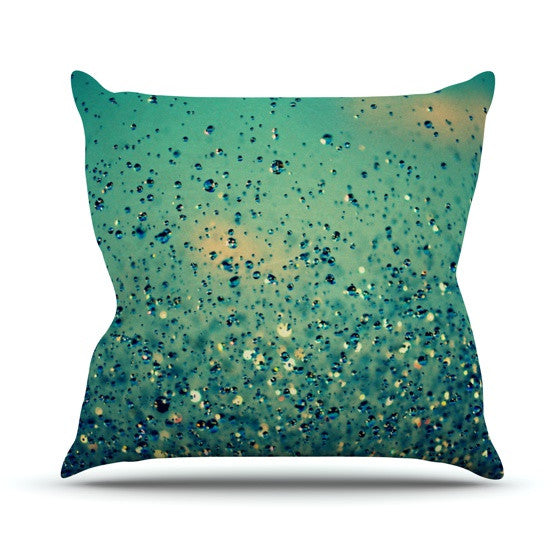 "Robin Dickinson ""Lullaby, Close Your Eyes"" Outdoor Throw Pillow - KESS InHouse  - 1"