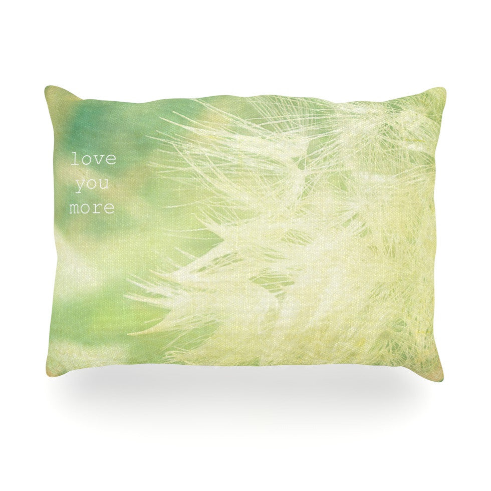 "Robin Dickinson ""Love You More"" Oblong Pillow - KESS InHouse"