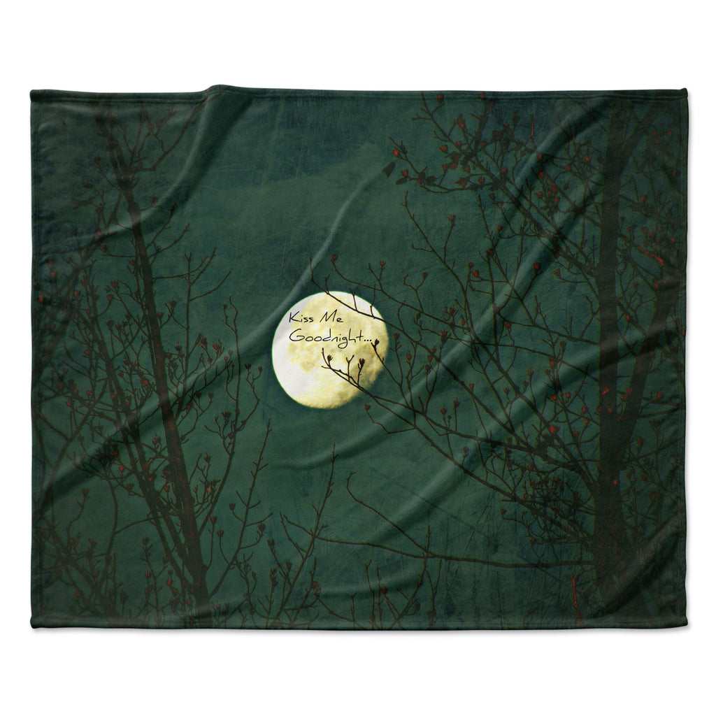 "Robin Dickinson ""Kiss Me Goodnight"" Fleece Throw Blanket"