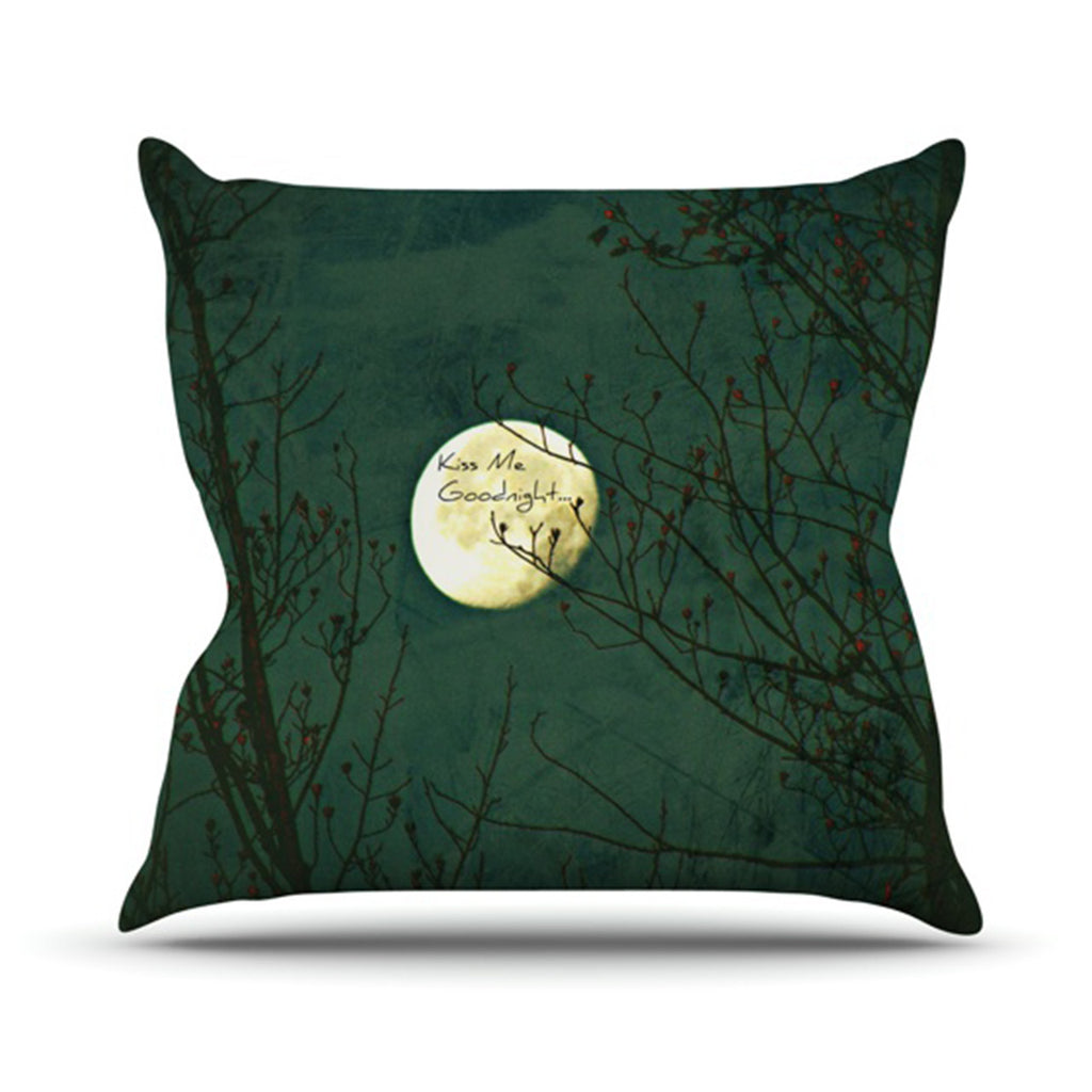 "Robin Dickinson ""Kiss Me Goodnight"" Throw Pillow - KESS InHouse  - 1"
