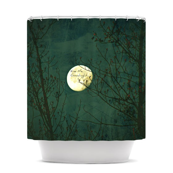 "Robin Dickinson ""Kiss Me Goodnight"" Shower Curtain - KESS InHouse"