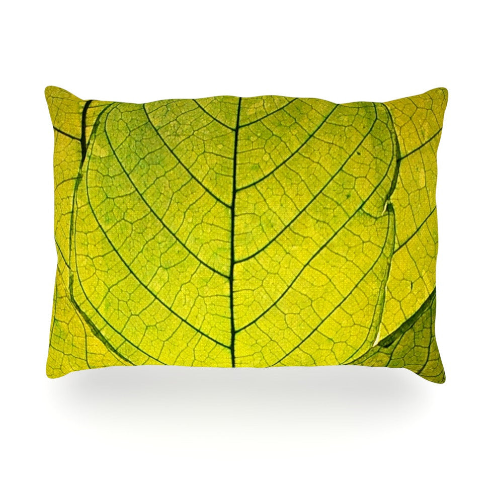 "Robin Dickinson ""Every Leaf a Flower"" Oblong Pillow - KESS InHouse"