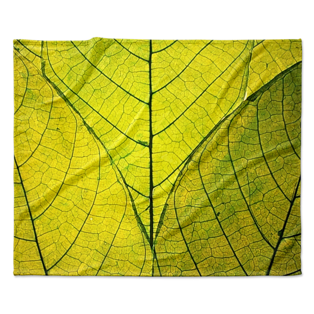 "Robin Dickinson ""Every Leaf a Flower"" Fleece Throw Blanket"