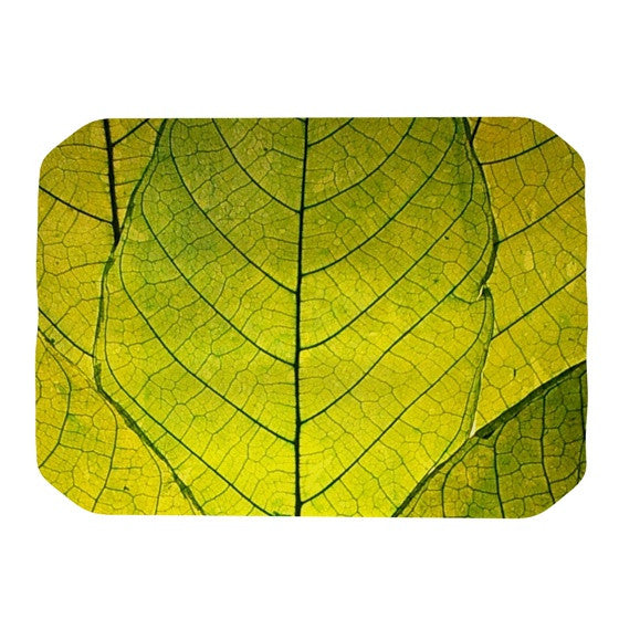 "Robin Dickinson ""Every Leaf a Flower"" Place Mat - KESS InHouse"