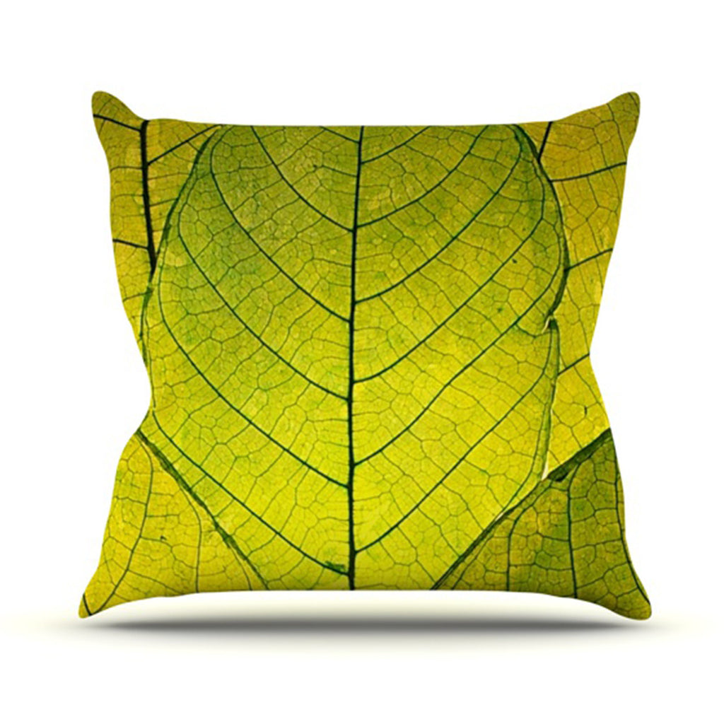 "Robin Dickinson ""Every Leaf a Flower"" Throw Pillow - KESS InHouse  - 1"