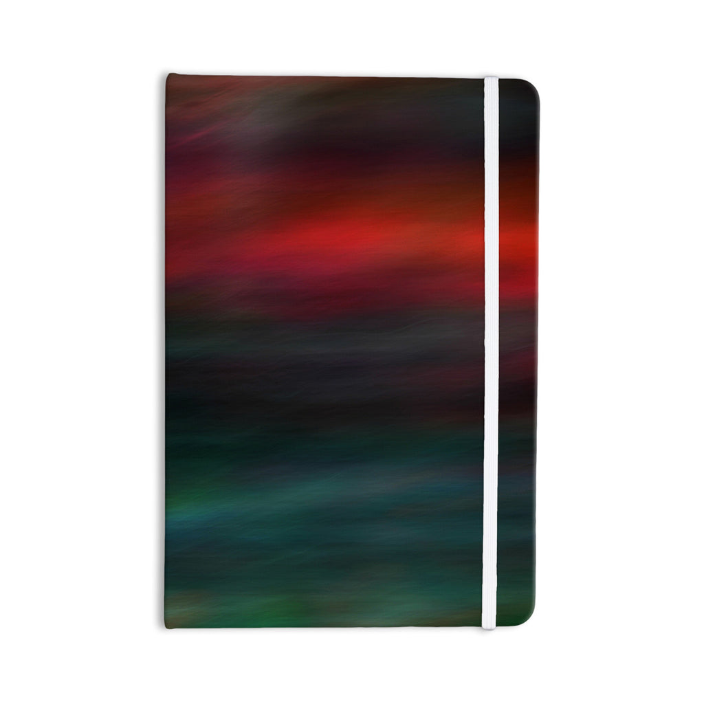 "Robin Dickinson ""Haunted"" Red Teal Everything Notebook - KESS InHouse  - 1"