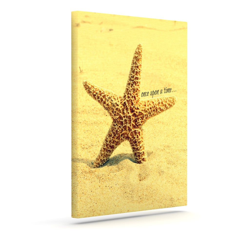 "Robin Dickinson ""Once upon a Time"" Starfish Outdoor Canvas Wall Art - KESS InHouse  - 1"